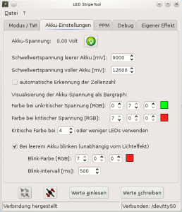Screenshot vom LED Stripe Tool V1.5